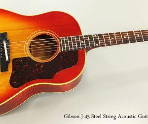 1963 Gibson J-45 Steel String Acoustic Guitar
