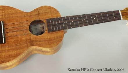 Kamaka-HF-2-Concert-Ukulele-2005-Full-Front-View