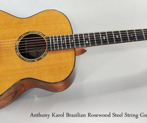 SOLD!!! 2003 Anthony Karol Brazilian Rosewood Steel String Guitar