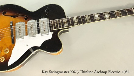Kay-Swingmaster-K673-Thinline-Archtop-Electric-1962-Full-Front-View