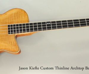 2016 Jason Kiefte Custom Thinline Archtop Bass Guitar