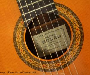 1975 Kohno No 10 Classical Guitar (consignment)  SOLD