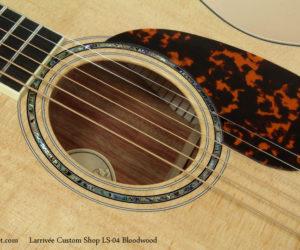 Larrivee Custom Shop LS-04 Bloodwood   SOLD