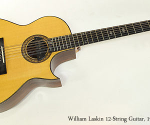 SOLD!! William Laskin 12-String Guitar, 1983