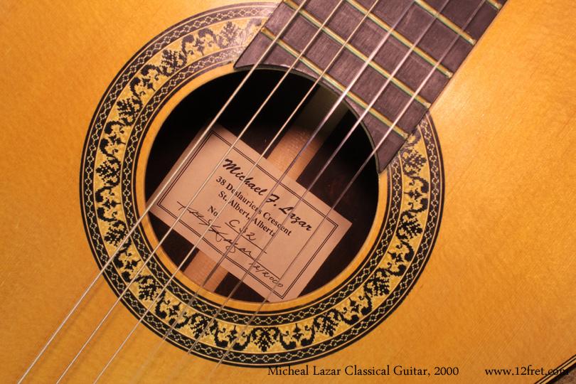 2000 Michael F Lazar Classical Guitar Www 12fret Com