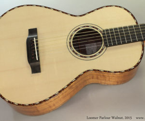 2015 Loomer Walnut Parlour Guitar  SOLD