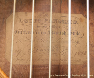 1838 Louis Panormo Guitar  SOLD
