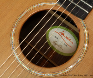 1997 Lowden O25C Steel String (consignment) SOLD