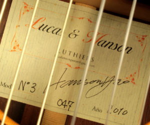 Lucas & Hanson Concert Classical #3 2010 (consignment) No Longer Available