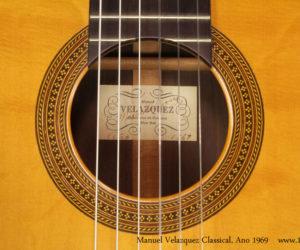 1969 Manuel Velazquez Classical Guitar (consignment) SOLD