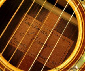 Linda Manzer Custom Cutaway - Indian Rosewood 1980 (consignment) SOLD