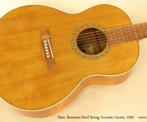 1993 Marc Beneteau Steel String Acoustic Guitar (consignment)