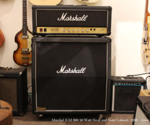 SOLD!  1988 Marshal JCM800 50 Watt Head and Slant Cabinet