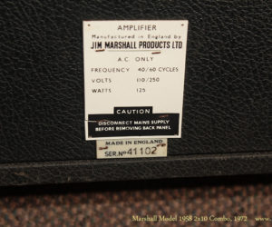 1972 Marshall Model 1958 2x10 Combo (consignment)  SOLD