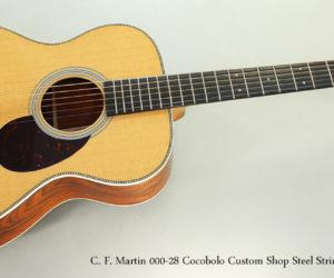 NO LONGER AVAILABLE!!! 2017 C. F. Martin 000-28 Cocobolo Custom Shop Steel String Guitar