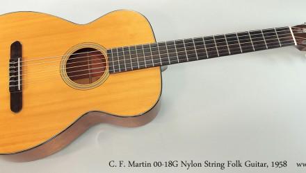 C.-F.-Martin-00-18G-Nylon-String-Folk-Guitar-1958-Full-Front-View