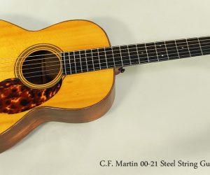 SOLD!!! 1927 C.F. Martin 00-21 Steel String Guitar
