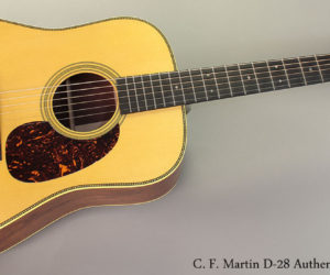 C. F. Martin D-28 Authentic 1937 Steel String Acoustic Guitar