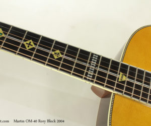 2004 Martin OM-40 Rory Block  SOLD
