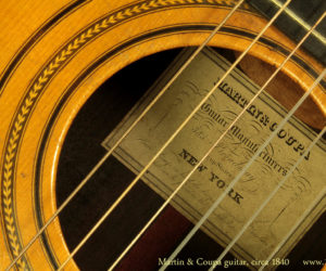 Martin and Coupa Guitar 1840's SOLD