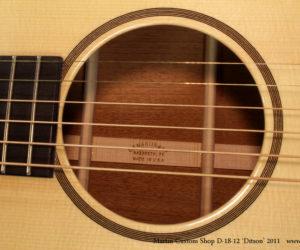 (Discontinued) Martin Custom Shop D18-12 Ditson, 2011