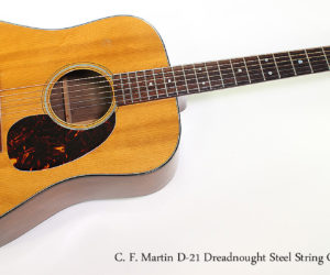 SOLD!  1966 C. F. Martin D-21 Dreadnought Steel String Guitar