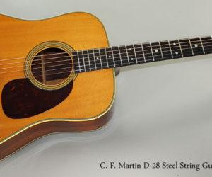 SOLD!!! 1952 C. F. Martin D-28 Steel String Guitar