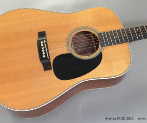 2012 Martin D-28 (consignment) SOLD
