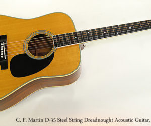 SOLD!!! C. F. Martin D-35 Steel String Dreadnought Acoustic Guitar, 1975