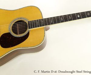 ❌ SOLD ❌  C. F. Martin D-41 Dreadnought Steel String Guitar, 2017