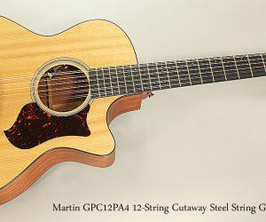 2015 Martin GPC12PA4 12-String Cutaway Steel String Guitar