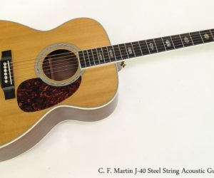 ❌SOLD❌ C. F. Martin J-40 Steel String Acoustic Guitar, 2005