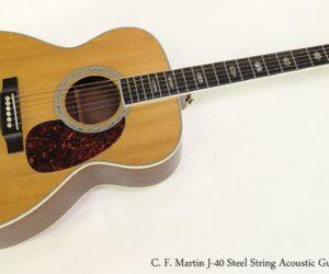 SOLD!!! C. F. Martin J-40 Steel String Acoustic Guitar, 2005