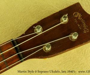 Martin Style 0 Soprano Ukulele, late 1940's  SOLD