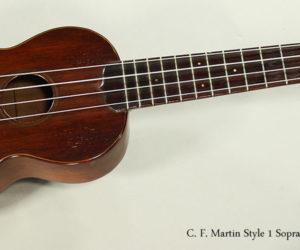 SOLD!!! 1950s C. F. Martin Style 1 Soprano Ukulele