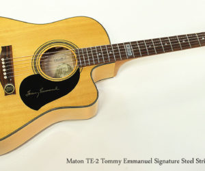 SOLD!! 2006 Maton TE-2 Tommy Emmanuel Signature Steel String