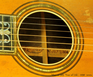 Maurer 593 Tree Of Life Parlor Guitar 1930 (consignment)  SOLD
