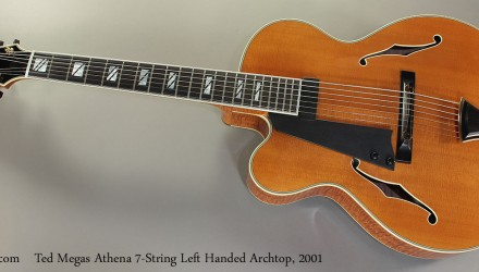 Ted-Megas-Athena-7-String-Left-Handed-Archtop-2001-Full-Front-View