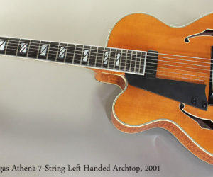2001 Ted Megas Athena Left Handed 7 String Archtop Guitar