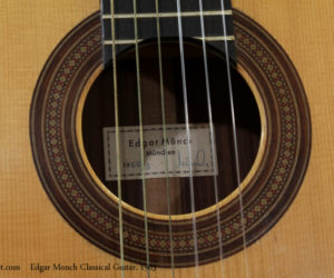 1965 Edgar Monch Classical Guitar  SOLD