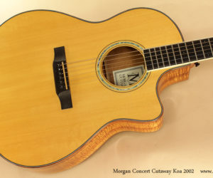 2002 Morgan Concert Cutaway Koa Steel String Guitar (consignment)  SOLD