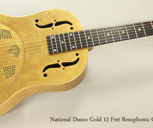 DISCONTINUED!   National Dueco Gold 12 Fret Resophonic Guitar