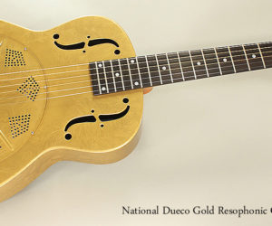 2016 National Dueco Gold Resophonic Guitar