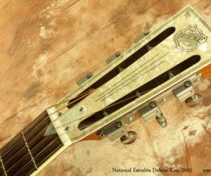 2005 National Estralita Deluxe Koa Resophonic Guitar  SOLD