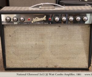 ❌ Sold ❌  National Glenwood 2x12 35 Watt Combo Amplifier, 1961