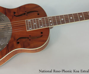 SOLD!!! National Koa Estralita Deluxe Resophonic Guitar