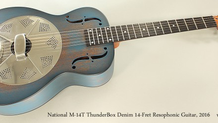 National-M-14T-ThunderBox-Denim-14-Fret-Resophonic-Guitar-2016-Full-Front-View