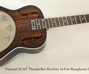 National M-14T ThunderBox Revolver Resophonic Guitar, 2016