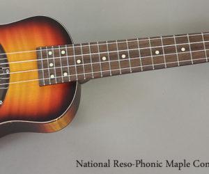 National Reso-Phonic Maple Concert Ukulele