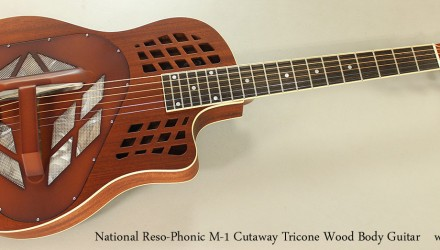 National-Reso-Phonic-M-1-Cutaway-Tricone-Wood-Body-Guitar-Full-Front-View